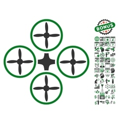Quadcopter Icon With Bonus vector