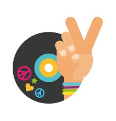 Retro hippie style vector