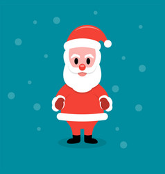 santa claus stands on a blue background vector image