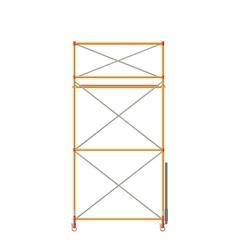 Scaffolding Isolated On White vector