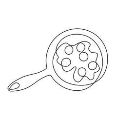 scrambled eggs one line drawing vector image