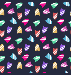 seamless pattern with fingernail isolated vector image