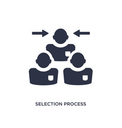Selection process icon on white background simple vector