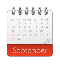 september 2019 calendar leaf template vector image