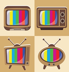 Set classic television vector