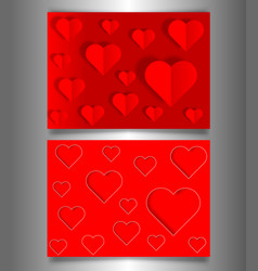 set valentines day or mothers day red banners vector image