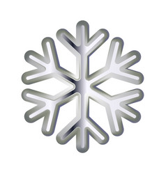 silver snowflake volumetric moderate lighting on vector image