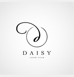 simple elegant initial letter d logo type sign vector image