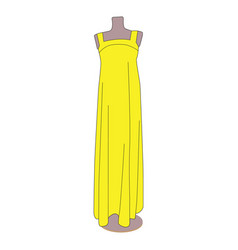 single icon with the image of a dress vector image
