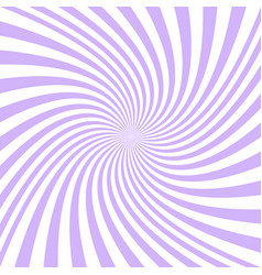 spiral background from purple and white rays vector image