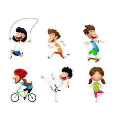 sport kids set vector image