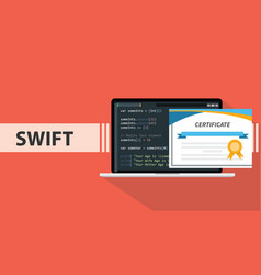 swift programming online learning certification vector image