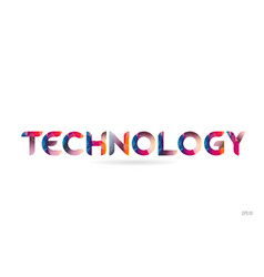 Technology colored rainbow word text suitable for vector