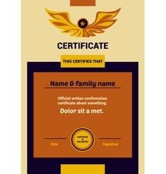 Template Certificate vector