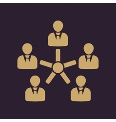 The management and teamwork icon Team and group vector image