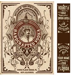 Vintage liquor labels layered vector