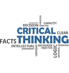 Word cloud - critical thinking vector
