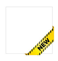 yellow caution tape with words new vector image