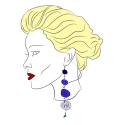 young woman young beautiful blonde vector image