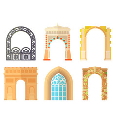 arch design architecture construction frame vector image