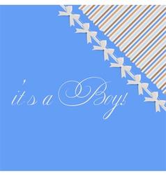 Baby boy shower card vector image vector image