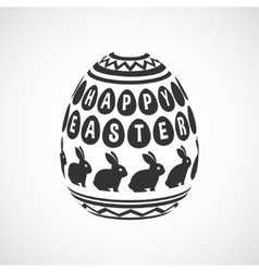 black and white decorative egg vector image