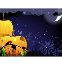 Bright ripe Halloween pumpkins vector image vector image
