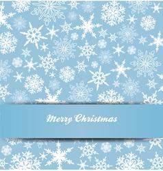 Christmas Snowflake Card Banner Invitation vector image vector image