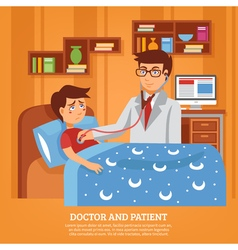 Doctor Attending Patient Home Flat vector image vector image