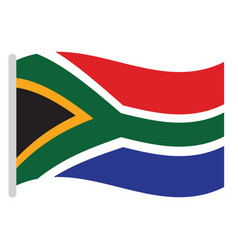 isolated south african flag vector image vector image