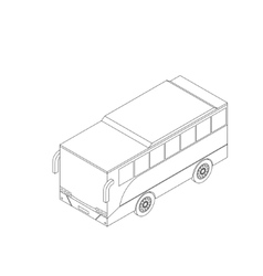 Isometric bus icon vector image vector image