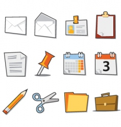 office icons fresh collection vector image vector image