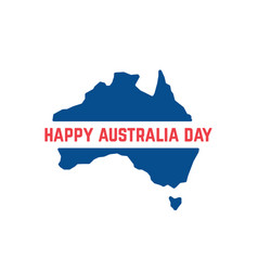 red and blue australia day icon vector image