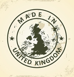 Stamp with map of United Kingdom vector image vector image