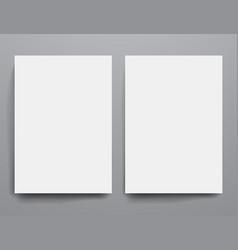 Design template empty brochures shadow in vector image