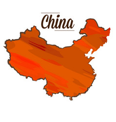 isolated chinese map vector image