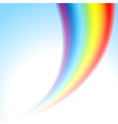 rainbow light vector image vector image