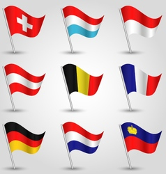 set of flags countries of western europe vector image vector image