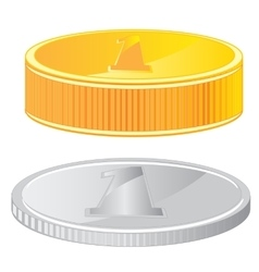 Two coins vector image