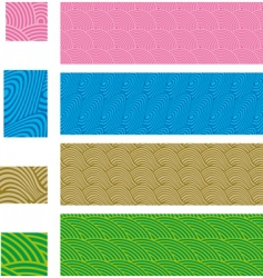 Asian traditional seamless patterns vector image vector image