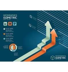 infographic isometric graph vector image vector image