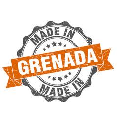 made in grenada round seal vector image vector image