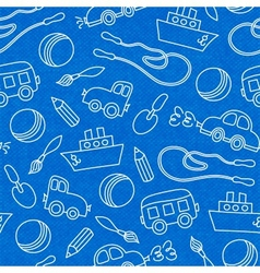 Seamless doodle children toys pattern vector image vector image