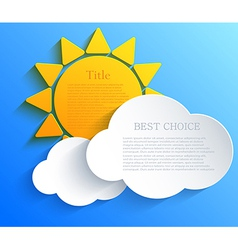 sun with clouds background Eps10 vector image