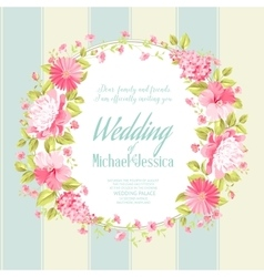 Wedding invitation card with custom text vector image vector image