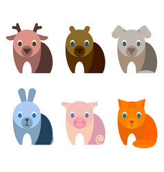 adorable baby animals with big kind innocent eyes vector image vector image