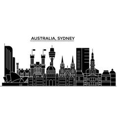 Australia sydney architecture city skyline vector