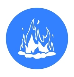 Bonfire icon black singe western icon from the vector