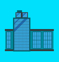 commercial building architecture in flat design vector image vector image