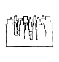contour city buildings icon image vector image vector image